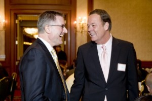 Alumni Board President Jeff Hunt and Honorary Alumnus of the Year Scott Burns