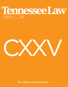 Tennessee Law, Fall 2015