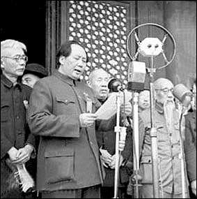 Chairman Mao proclaims the founding of the PRC (Oct. 1, 1949)