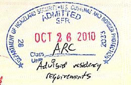 ARC advised residency requirement