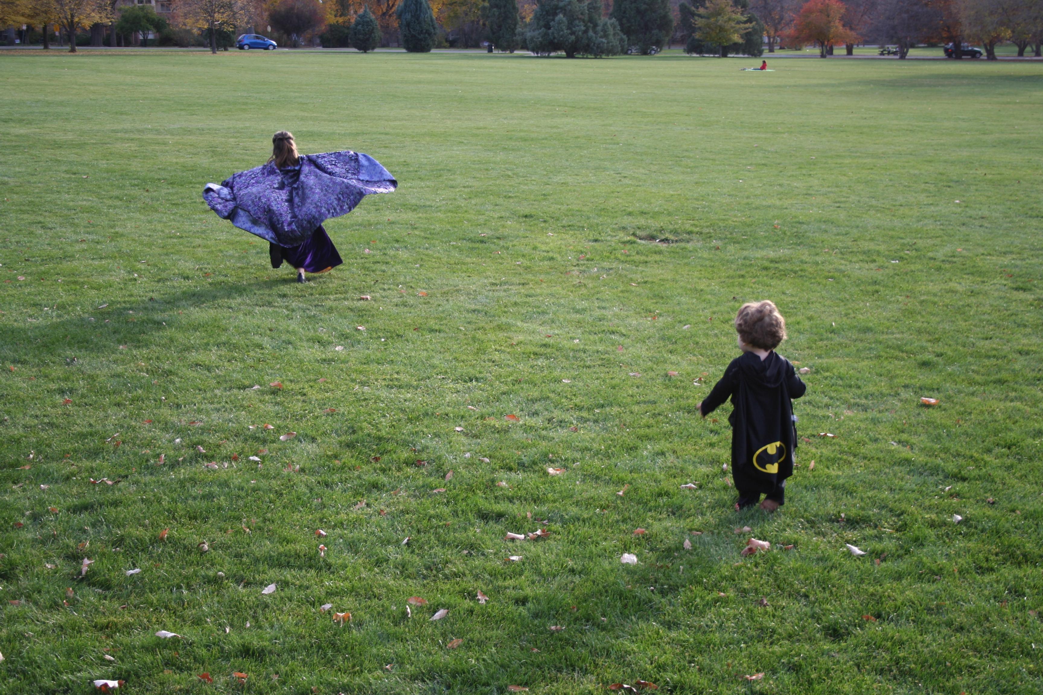 Halloween in flight.