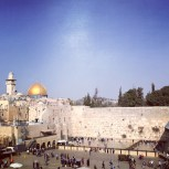 View of the Western Wall and Temple Mount