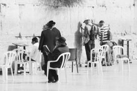 Men praying at the Wall
