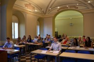 Class on international religious freedom at St. John's, Rome campus
