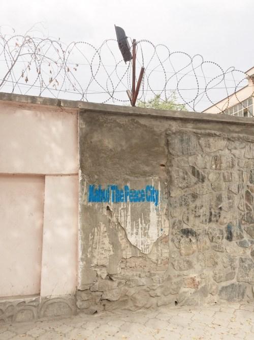 City blast wall
