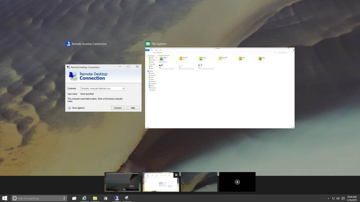 Windows 10 Multi Desktop