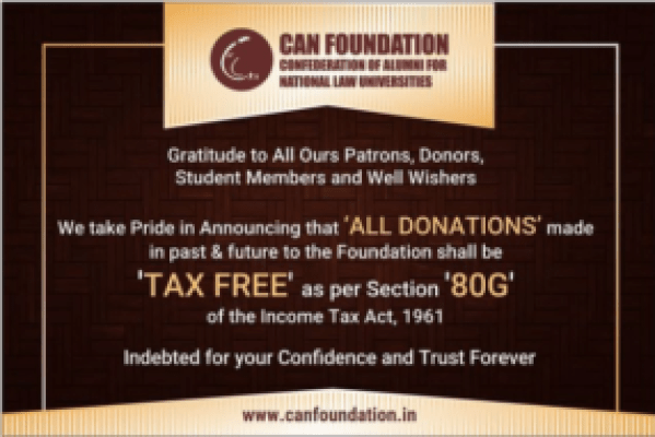 All Donations made to CAN Foundation shall be Tax-Free