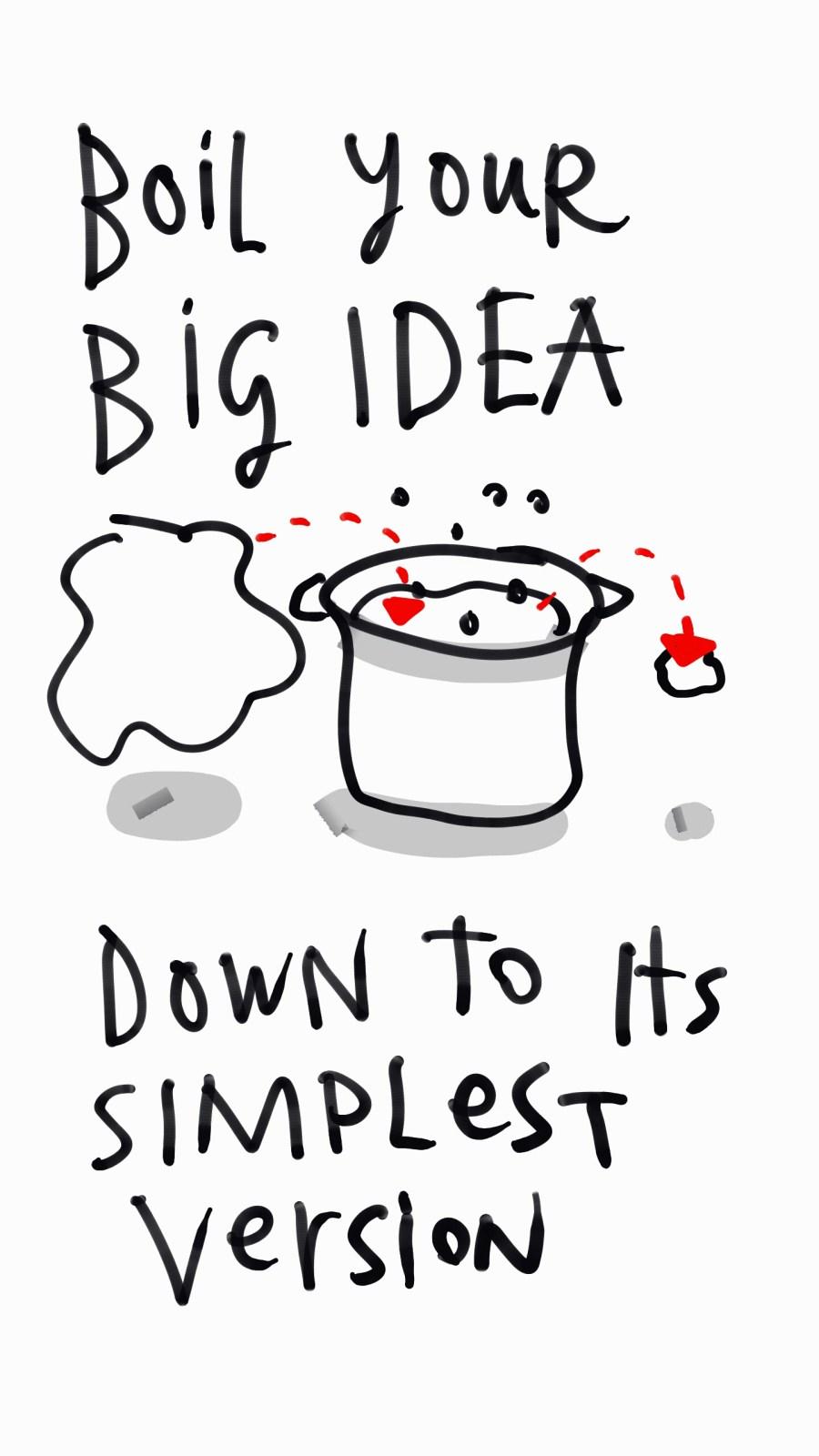 Prototype - boil your big idea down