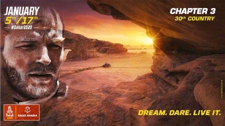 Cartel del rally Dakar 2020