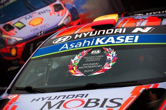 HYUNDAI MOTORSPORT CAMPEONES WRC 2019 © Helena El Mokni/Hyundai Motorsport
