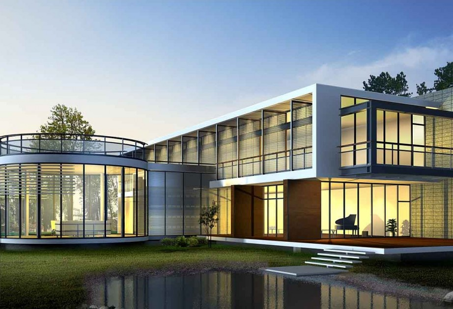 Having a Modern Big House Architecture on Modern Glass Houses  id=57183