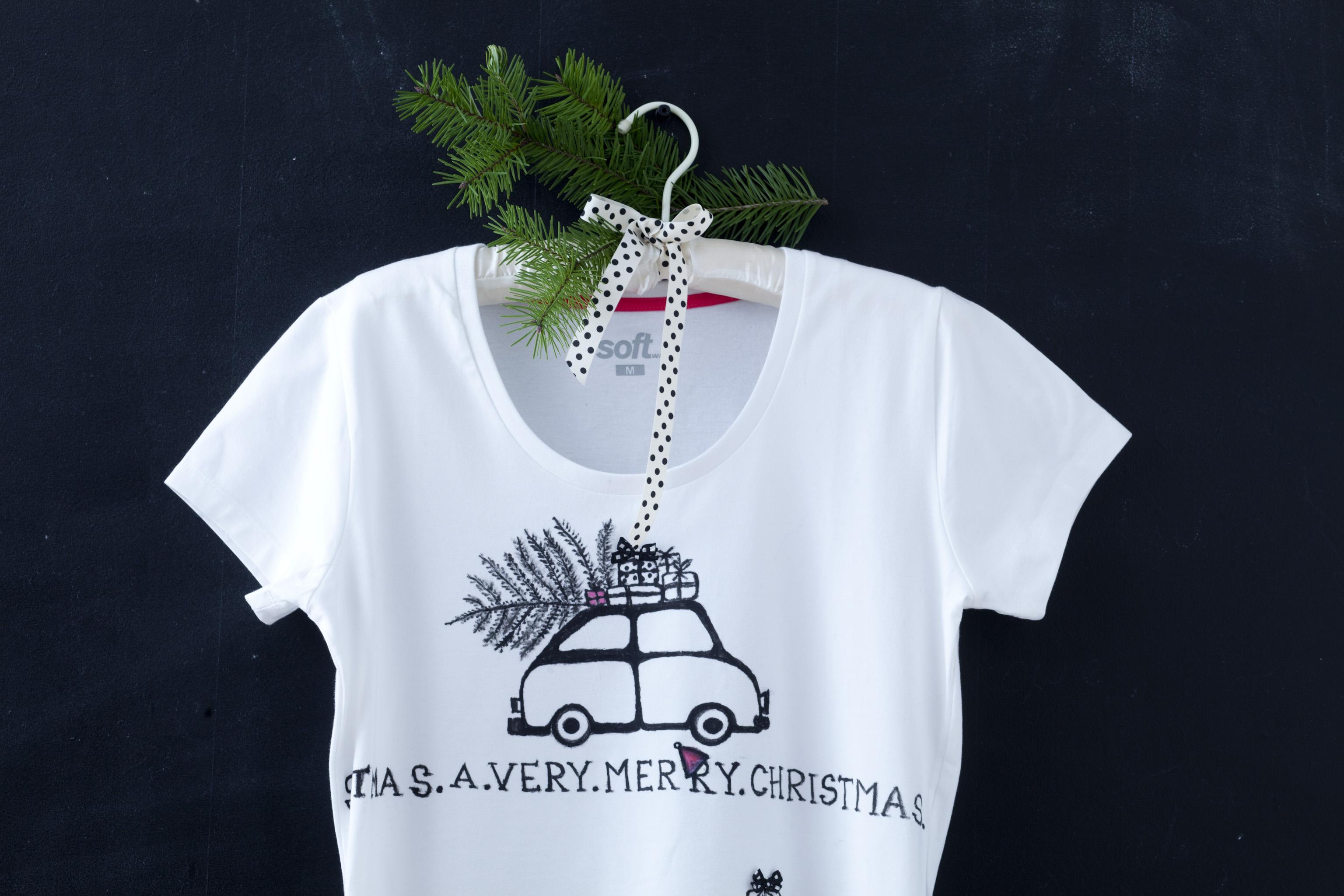 Prezent od serca. Świąteczna koszulka DIY