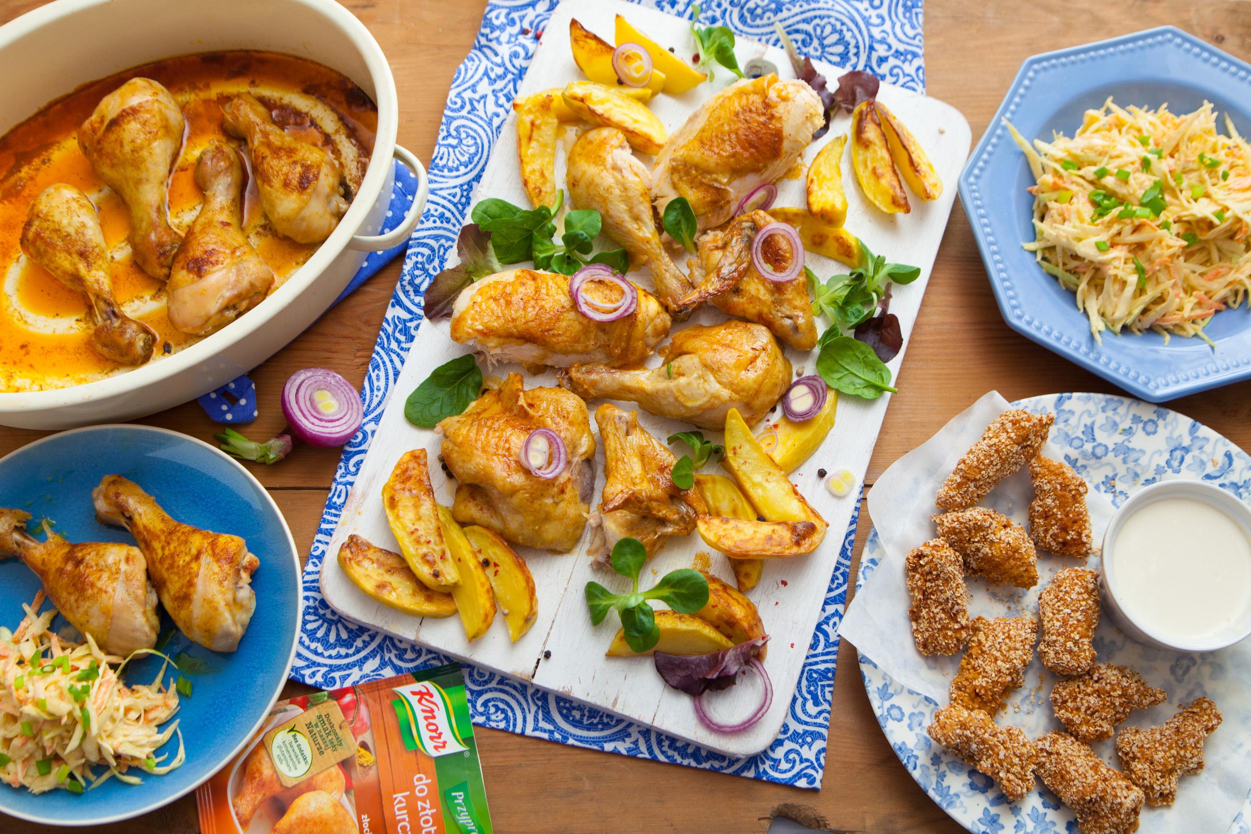 Pomysł na szybki obiad – trzy pomysły na złotego kurczaka.