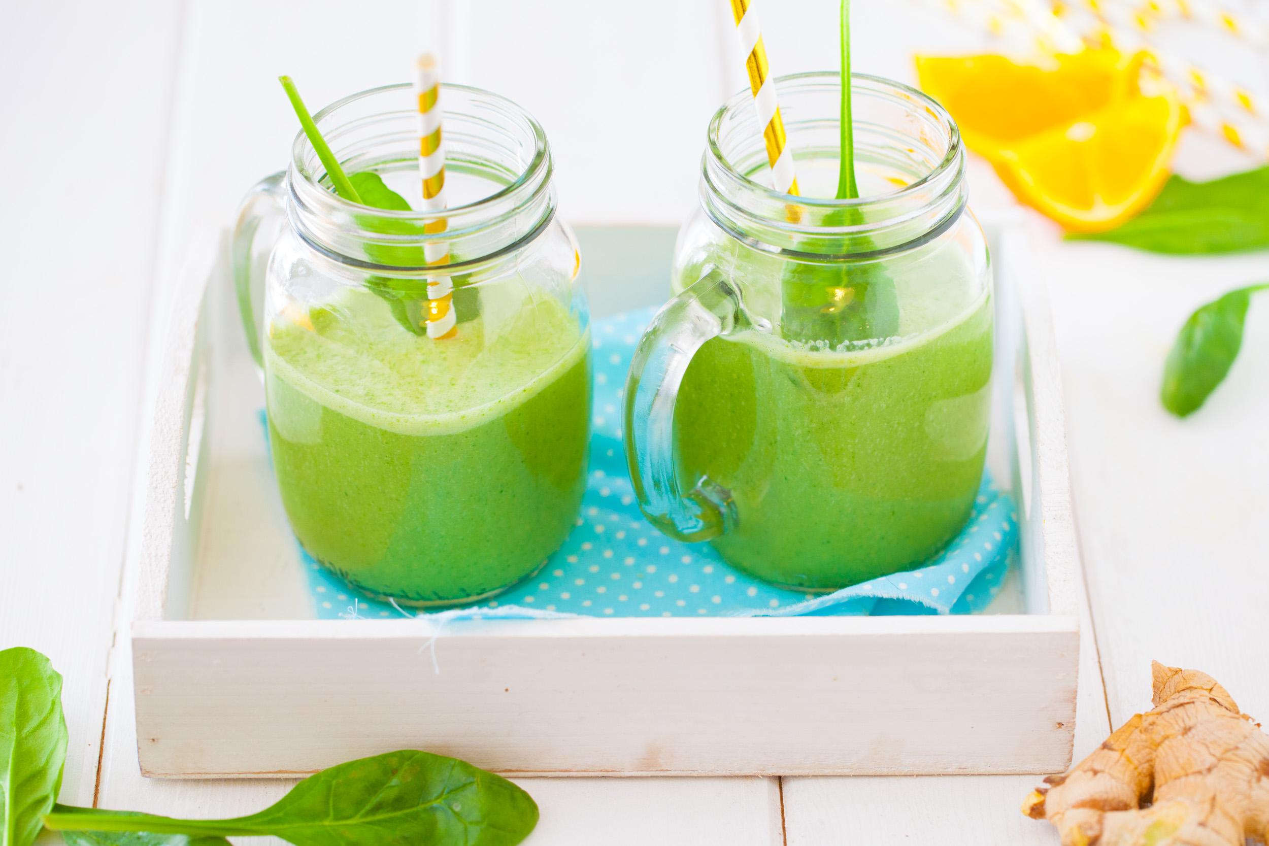 Zielone smoothie z imbirem. Akcja motywacja!