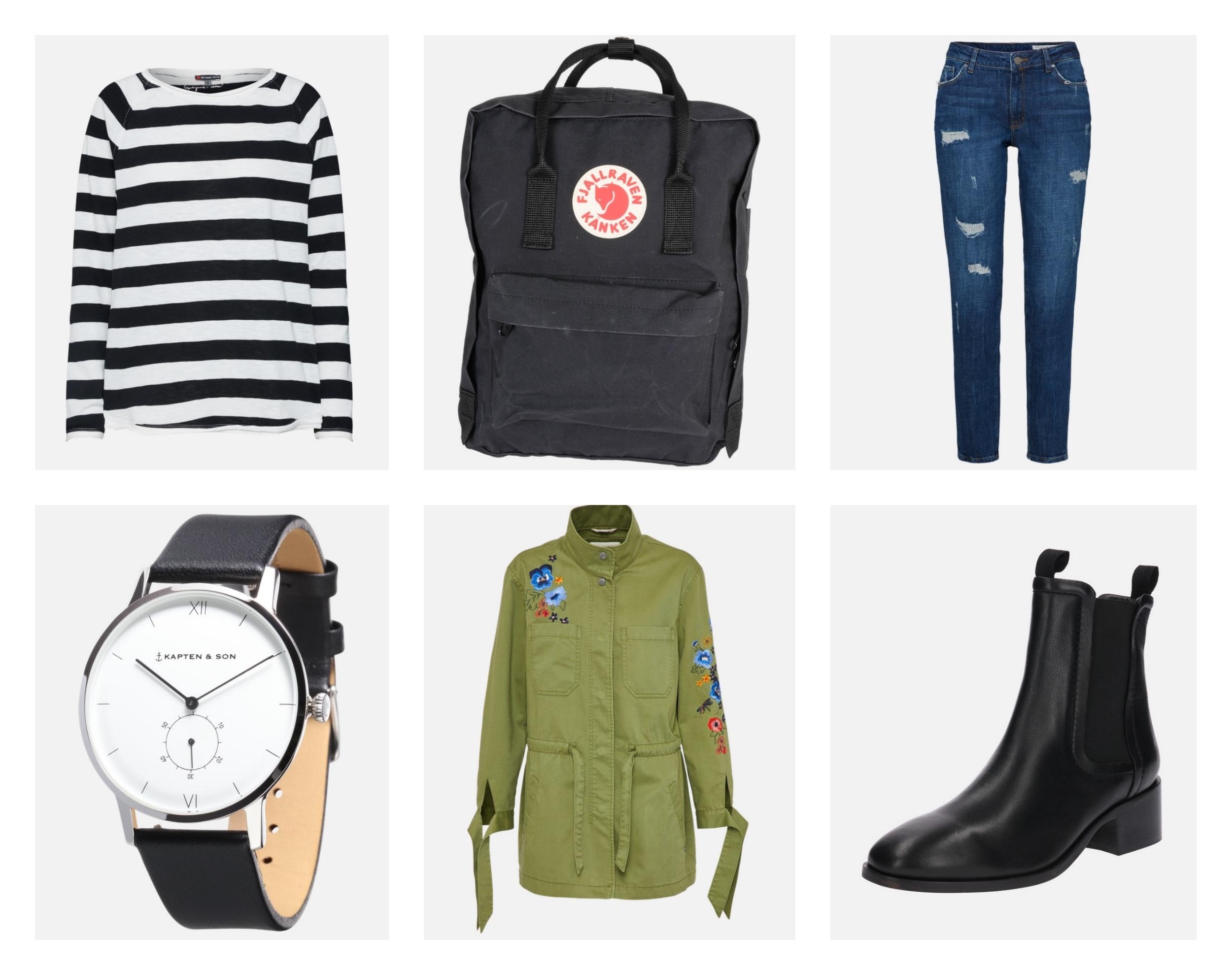 #Stylizacja tygodnia z bluzką w paski i plecakiem Kanken