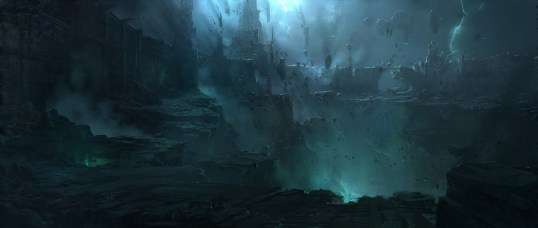 Official Art of the Ruination's Effects on the Shadow Isles