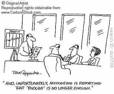 Accounting, enough