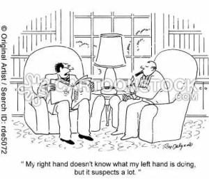 Right hand, left hand