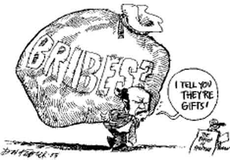 Image result for bribe cartoon