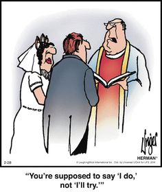 Religious wedding cartoon