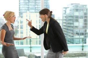 Business women fighting