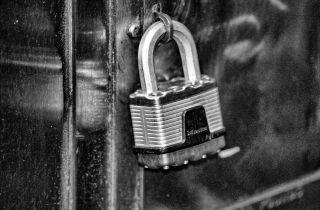 black and white lock