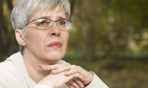 older woman concerned age discrimination