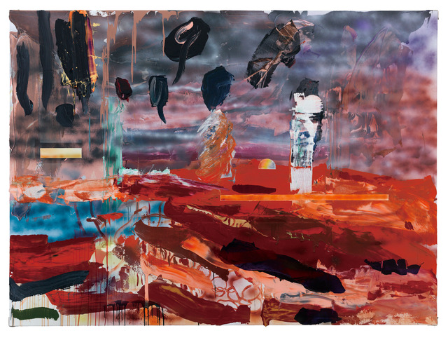 Qiu-Xiaofei-A-Lonely-Floating-Wood-2014-Acrylic-on-canvas-200x300cm