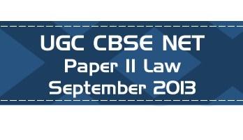 2013 September Previous Paper 2 Law UGC NET CBSE - LawMint.com