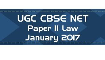 2017 January Previous Paper 2 Law UGC NET CBSE - LawMint.com