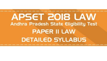APSET LAW 2018 Andhra Pradesh State Eligibility Test Official Syllabus Mock Tests Sample Papers