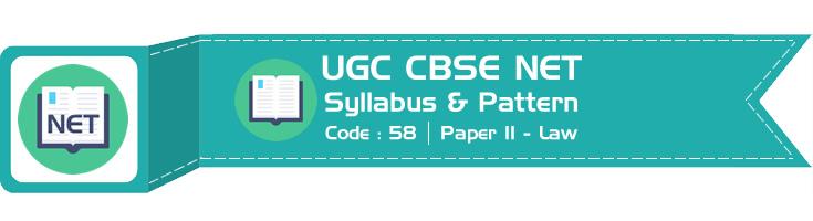 UGC CBSE NET 2018 Official Syllabus : Law Paper II - LawMint