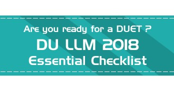 Delhi University LLM Admissions DUET 2018 Mock Tests Previous Question Papers Sample Papers