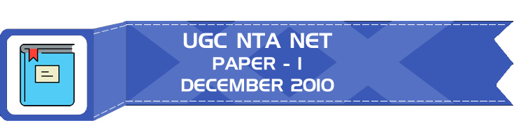 UGC NTA NET Paper 1 HECI Previous Question Papers Mock Tests December 2010