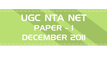 UGC NTA NET Paper 1 HECI Previous Question Papers Mock Tests December 2011