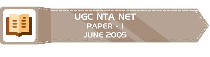 UGC NTA NET Paper 1 HECI Previous Question Papers Mock Tests June 2005