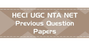UGC NTA NET Paper 1 - HECI - Previous Question Papers Mock Tests - General Paper on Teaching & Research Aptitude (Paper -I)