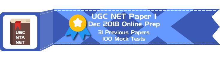 UGC NET Paper 1 Dec 2018 Mock Tests Previous Question Papers