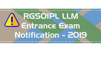 RGSOIPL LLM Entrance 2019 IIT KGP - Rajiv Gandhi School of Intellectual Property Law Mock Test Model Papers
