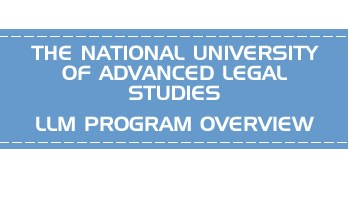 THE NATIONAL UNIVERSITY OF ADVANCED LEGAL STUDIES CLAT LLM PG OVERVIEW LawMint.com