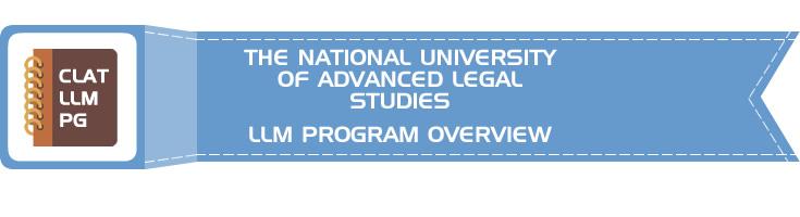 THE NATIONAL UNIVERSITY OF ADVANCED LEGAL STUDIES CLAT LLM PG OVERVIEW LawMint.com