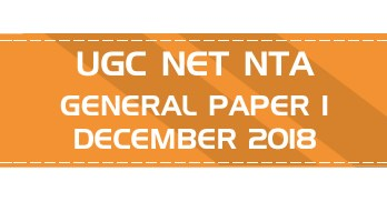 UGC NET NTA GENERAL Paper 1 DECEMBER 2018 OFFICIAL LawMint