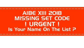 AIBE XIII 13 2018 Missing Set Code Results will be withheld LawMint.com