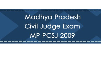 Madhya Pradesh Civil Judge Exam MP PCSJ 2009 LawMint.com