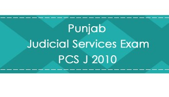 Punjab Judicial Services Exam PCS J 2010 LawMint.com Judiciary Exam Mock Tests Civil Judge Previous Papers Legal Test Series MCQs Study Material Model Papers