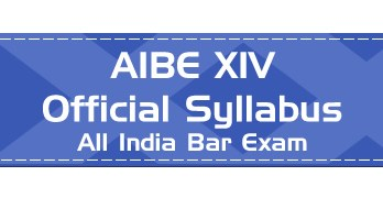AIBE XIV Official Syllabus Mock Tests Previous Question papers Download pdf