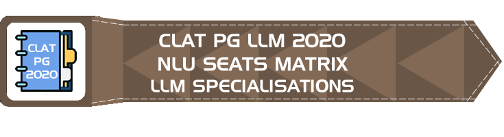 CLAT PG 2020 LLM Seats Breakup matrix across NLUs Reservation Specialization Mock Tests Comprehension Based Questions