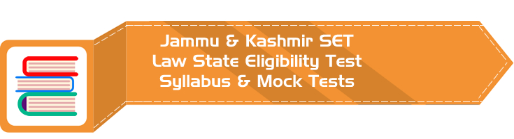 JK SET Law Jammu Kashmir State Eligibility Test Law Syllabus Eligibility Mock Tests Model Papers Previous Papers