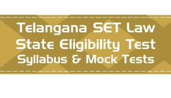 TS SET Law Telangana State Eligibility Test Law Syllabus Age limit Eligibility Mock Tests Model Papers Previous Papers