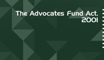 The Advocates Fund Act 2001 Bare Act PDF Download 2